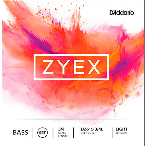 D'Addario DZ610 Zyex 3/4 Bass String Set Light
