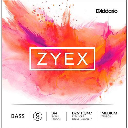 D'Addario DZ611 Zyex 3/4 Bass Single G String-thumbnail