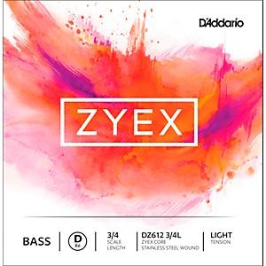 Daddario DZ612 Zyex 3/4 Bass Single D String by D'Addario