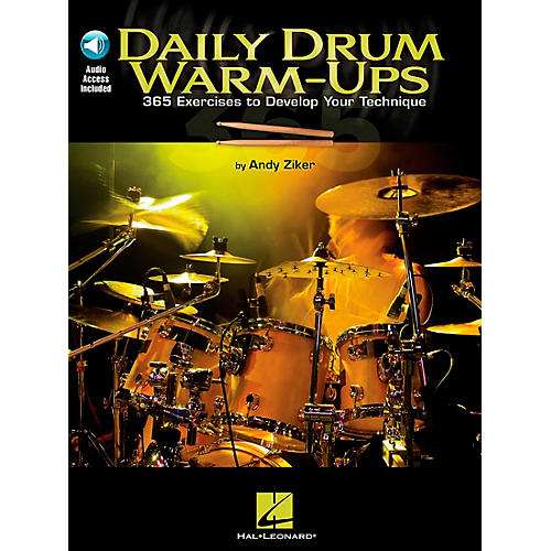 Hal Leonard Daily Drum Warm-Ups - 365 Exercises To Develop Your Technique (Book/CD)-thumbnail