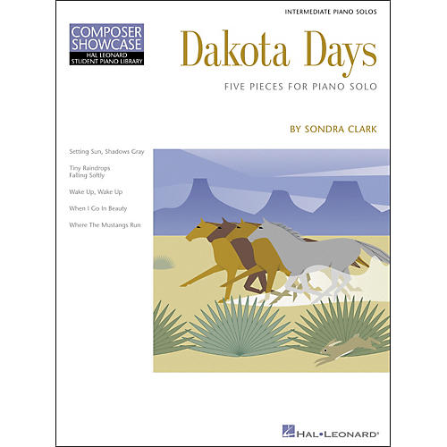 Hal Leonard Dakota Days Five Pieces For Piano Solo Intermediate Level Composer Series Hal Leonard Student Piano Library by Clark
