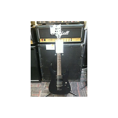 Schecter Guitar Research Damien 6 Satin Black Solid Body Electric Guitar-thumbnail