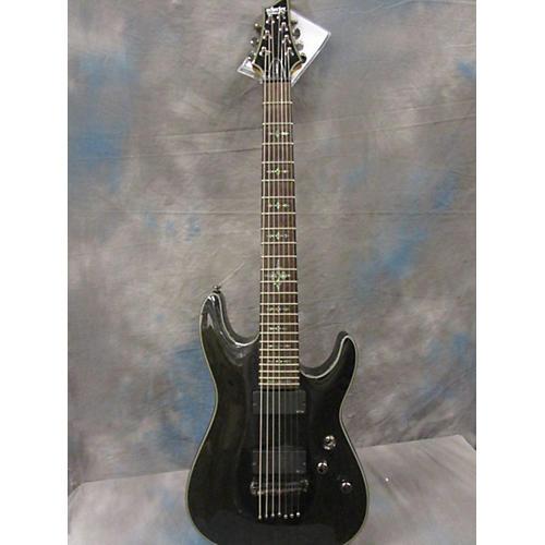Schecter Guitar Research Damien Elite 7 Solid Body Electric Guitar Metallic Gray