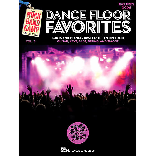 Hal Leonard Dance Floor Favorites - Rock Band Camp Vol. 5 (Book/2-CD Pack) Vocal Gtr Keys Bass Drums-thumbnail