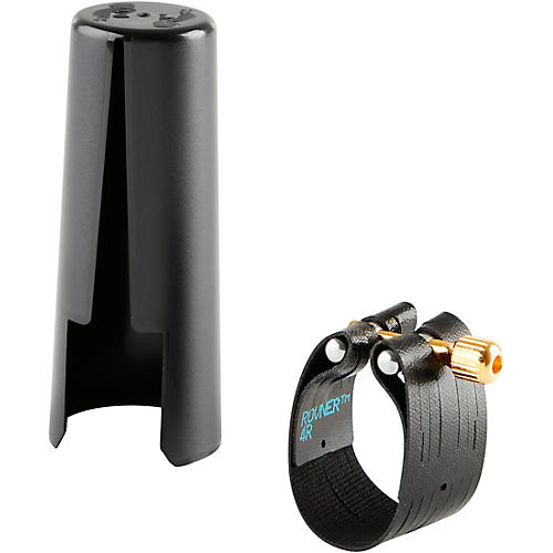 Rovner Dark Bass Saxophone Ligature and Cap-thumbnail
