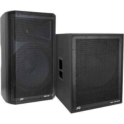 Peavey Dark Matter DM115 Powered Speaker and DM118 Sub-thumbnail