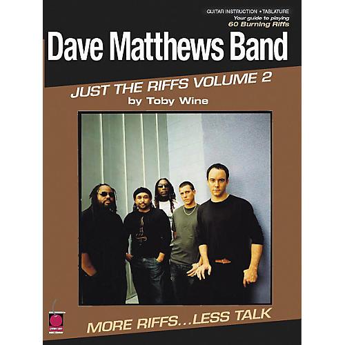 Cherry Lane Dave Matthews Band - Just the Riffs Volume 2 (Book)-thumbnail