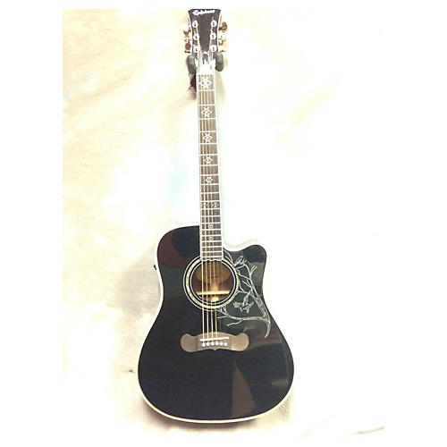 Epiphone Dave Navarro Signature Black Acoustic Electric Guitar