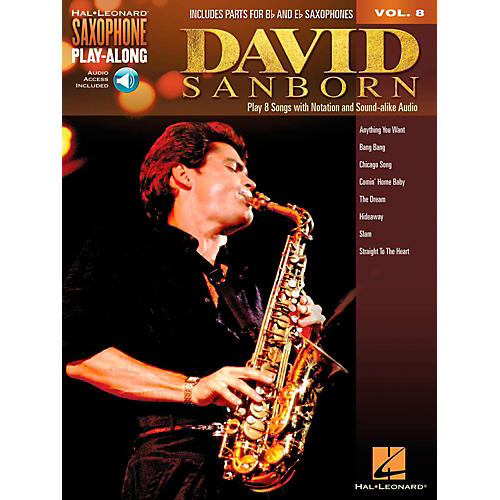 Hal Leonard David Sanborn - Saxophone Play-Along Vol. 8 (Book/Audio Online)