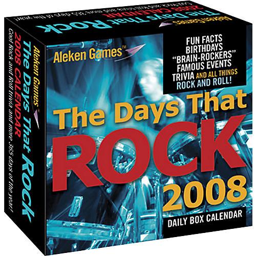 Aleken Games Days That Rock Limited Edition 2008 Calendar