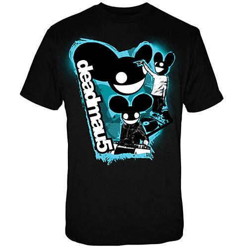 FEA Merchandising Deadmau5 - 3 Head Logo T Shirt