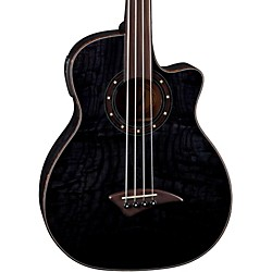 Dean Exotica Quilt Fretless Acoustic-Electric Bass