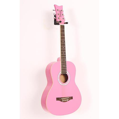 Daisy Rock Debutante Junior Miss Acoustic Guitar Pack Bubble Gum Pink 886830983733