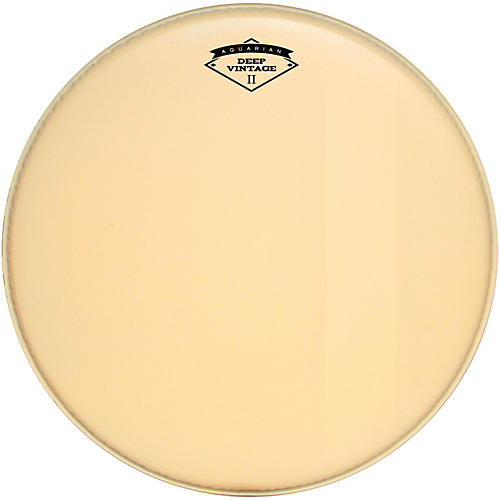 Aquarian Deep Vintage II Bass Drumhead with Felt Strip-thumbnail