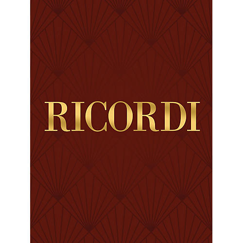 Ricordi Del suo natio rigore RV653 Study Score Series Composed by Antonio Vivaldi Edited by Francesco Degrada