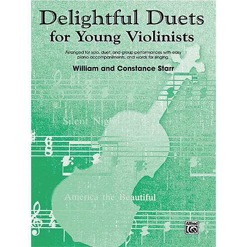Alfred Delightful Duets for Young Violinists, Piano Accompaniment (Book)-thumbnail