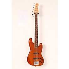 Deluxe Active Jazz Bass V Okume Rosewood Fingerboard Electric Bass Guitar Level 2 Natural 190839117304