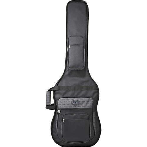 Fender Deluxe Double Electric Bass Guitar Gig Bag Black