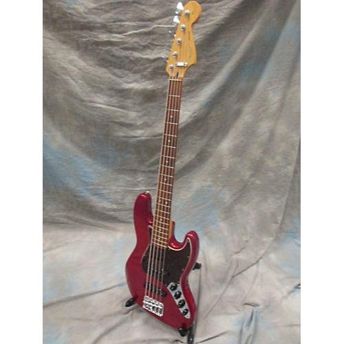 Fender Deluxe Jazz Bass V 5 String Candy Apple Red Electric Bass Guitar-thumbnail
