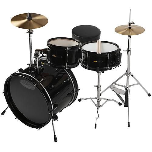 Sound Percussion Labs Deluxe Jr. 3-Piece Drum Set Black