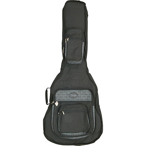 Fender Deluxe Jumbo Acoustic Bass Guitar Gig Bag Black