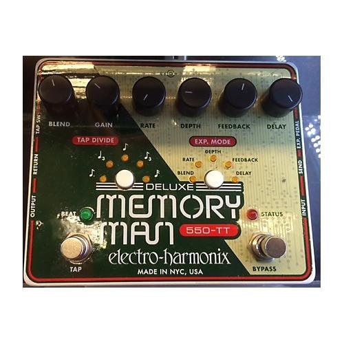 Electro-Harmonix Deluxe Memory Man Tap Tempo 550 Delay Effect Pedal-thumbnail