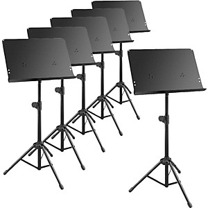 Musician's Gear Deluxe Music Stand 6 Pack