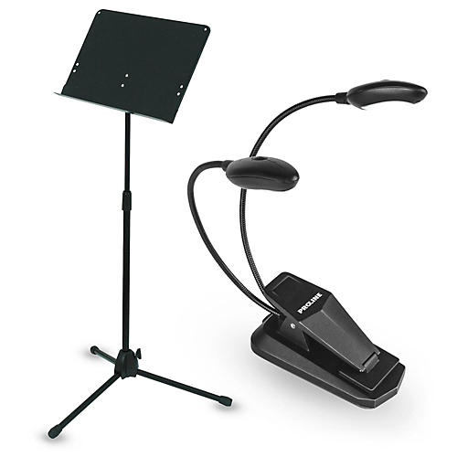Musician's Gear Deluxe Music Stand & LED Light Combo-thumbnail