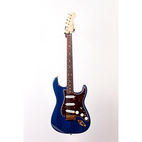 Fender Deluxe Players Stratocaster Electric Guitar Transparent Sapphire Blue 888365016849
