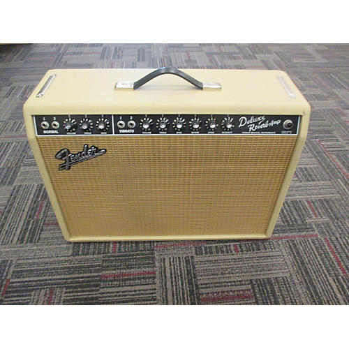 used fender deluxe reverb limited edition cream tolex wheat grille tube guitar combo amp. Black Bedroom Furniture Sets. Home Design Ideas