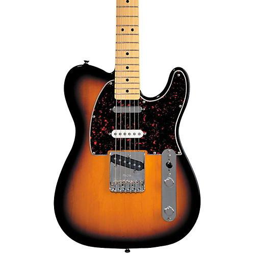 fender deluxe series nashville telecaster electric guitar brown sunburst maple fretboard. Black Bedroom Furniture Sets. Home Design Ideas