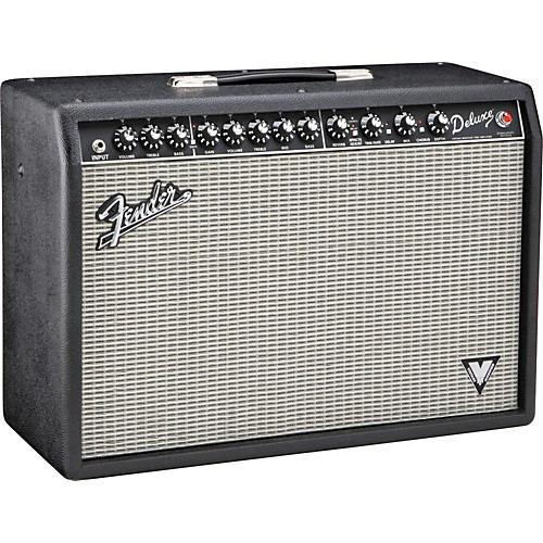 Fender Deluxe VM 40W 1x12 Tube Guitar Combo Amp Black Silver Grille