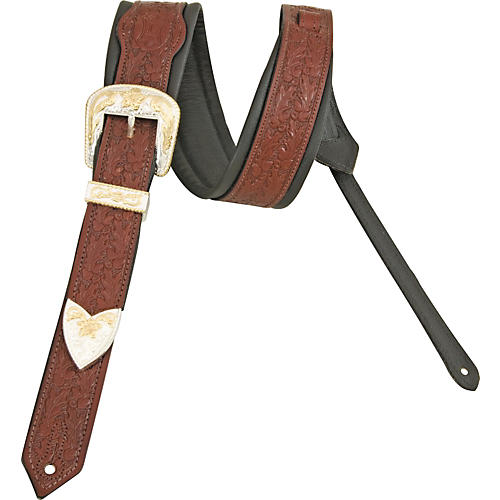 Levy's Deluxe Vintage Leather Guitar Strap Walnut