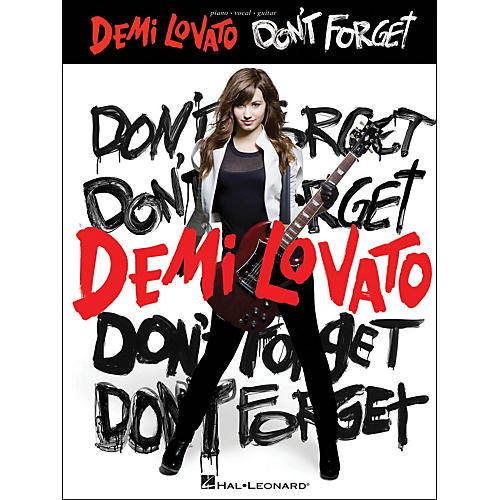 Hal Leonard Demi Lovato Don't forget arranged for piano, vocal, and guitar (P/V/G)