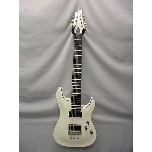 Schecter Guitar Research Demon 7 String Solid Body Electric Guitar White