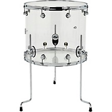 DW Design Series Acrylic Floor Tom with Chrome Hardware Level 1 18 x 16 in. Clear