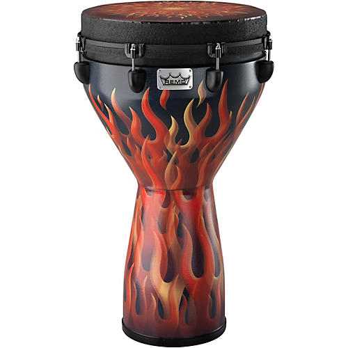 Remo Designer Series Key-tuned Djembe Flame
