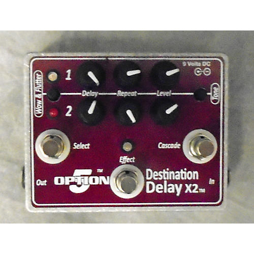 Option 5 Destination Delay X2 Effect Pedal-thumbnail