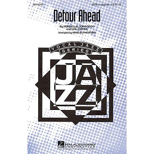 Hal Leonard Detour Ahead SATB a cappella arranged by Paris Rutherford