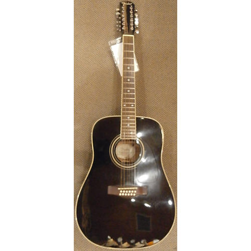 Fender Dg16e12 Black 12 String Acoustic Electric Guitar-thumbnail
