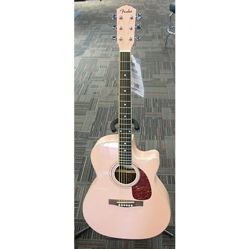 used fender dga pink acoustic guitar guitar center. Black Bedroom Furniture Sets. Home Design Ideas