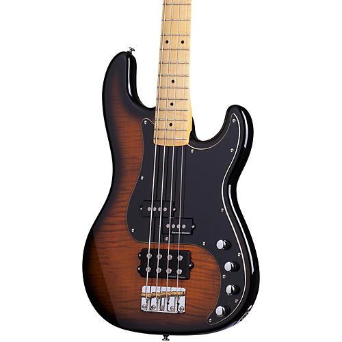 Schecter Guitar Research Diamond-P Plus Electric Bass Guitar Dark Vintage Sunburst