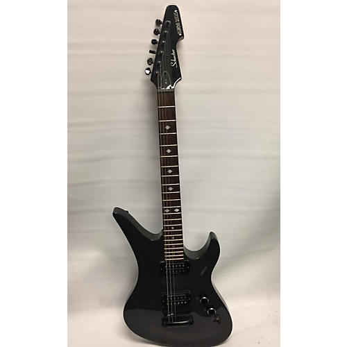 used schecter guitar research diamond series avenger solid body electric guitar silver sparkle. Black Bedroom Furniture Sets. Home Design Ideas