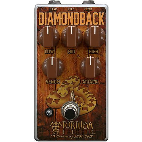 Tortuga Diamondback British Drive Guitar Overdrive Effects Pedal-thumbnail