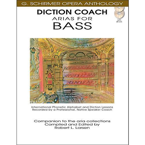 G. Schirmer Diction Coach - Arias for Bass G. Schirmer Opera Anthology Book/2CD's-thumbnail