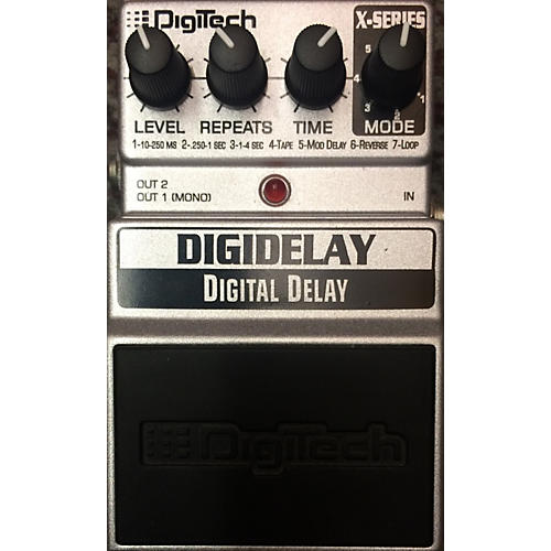 DigiTech DigiDelay Black And Silver Effect Pedal