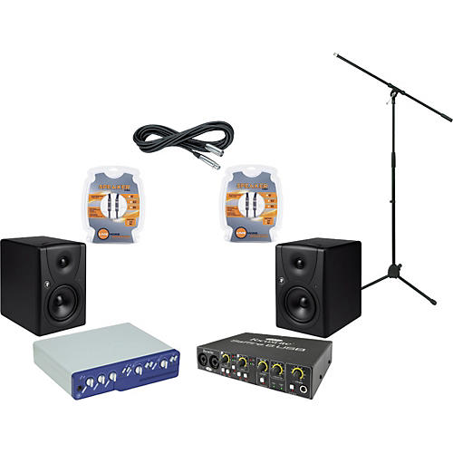 Mackie Digidesign Mbox 2 and Mackie MR5 Recording Package-thumbnail