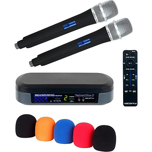 Vocopro Digital Karaoke Mixer with Wireless Mics and Bluetooth Receiver And Mic Wind Screen(5)-thumbnail