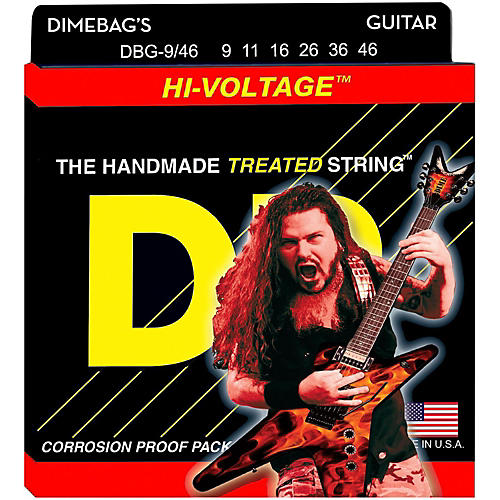 DR Strings Dimebag Darrell Hi-Voltage Electric Guitar Strings Med Lite-thumbnail