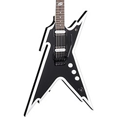 Dimebag Razorback DB Electric Guitar with Floyd Rose Bridge Black and White